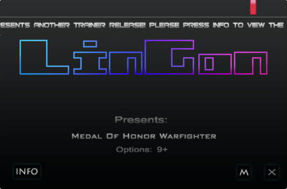Medal of Honor: Warfighter Trainer +9 v1.0.0.2 {LinGon}