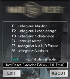 Hard Reset Extended Edition Trainer +6 v1.0 {dr.olle}