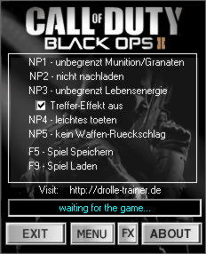 Call of Duty: Black Ops 2 Trainer +6 v1.0-1.2 {dR.oLLe}