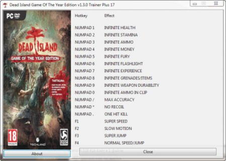 Dead Island Trainer +17 Game of the Year Edition {GRIZZLY}