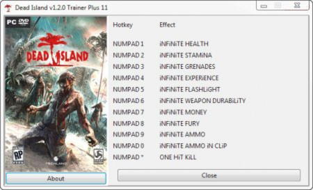 Dead Island Trainer +11 v1.2.0 {GRIZZLY}