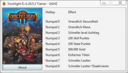Torchlight 2 Trainer +8 v1.20.5.3 {Chris GGHZ}