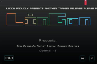 Tom Clancy's: Ghost Recon Future Soldier Trainer +18 v1.6 {LinGon}