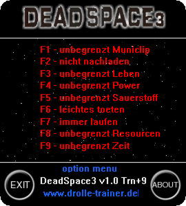 Dead Space 3 Trainer +9 v1.0 {dR.oLLe}