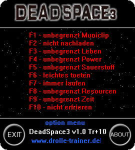 Dead Space 3 Trainer +10 v1.0 {dR.oLLe}