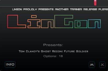 Tom Clancy's: Ghost Recon Future Soldier Trainer +18 v1.7 {LinGon}
