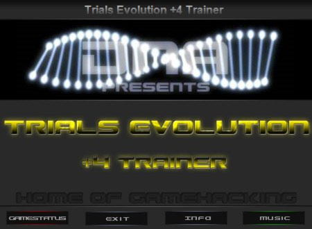 Trials Evolution: Gold Edition Trainer +4 v1.0.0.1 {DNA/HoG}