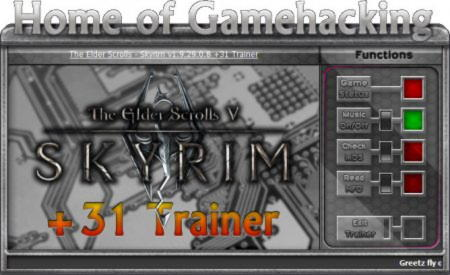The Elder Scrolls 5: Skyrim Trainer +31 v1.9.29.0.8 Up12 {HoG}