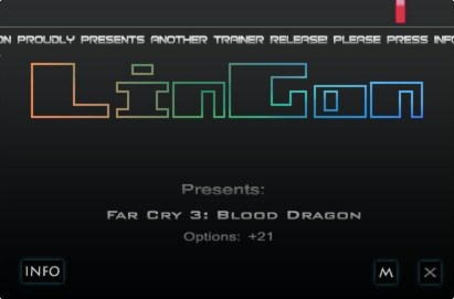 Far Cry 3: Blood Dragon Trainer +21 v1.0 DX9/11 {LinGon}