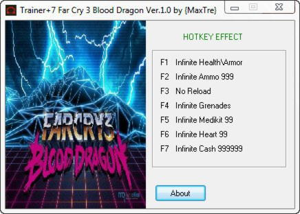 Far Cry 3 Blood Dragon Trainer +7 v1.0 DX 9DX 11 {MaxTre}