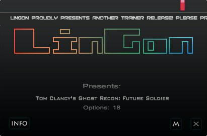 Tom Clancy's: Ghost Recon Future Soldier Trainer +18 v1.8 {LinGon}