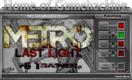 Metro: Last Light Trainer +6 v1.0 / 1.0.0.2 {HoG}