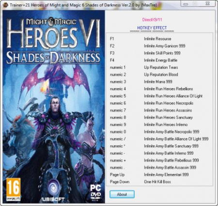 Might and Magic: Heroes 6 - Shades of Darkness Trainer +21 v2.0 {MaxTre}