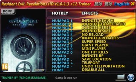 Resident Evil HD Remaster Trainer +11 v1 0 FLiNG - download