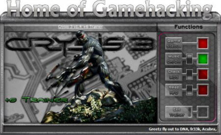 Crysis 3 Trainer +6 v1.4 {HoG}