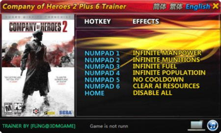 Company of Heroes 2 Trainer +6 All Ver {FLiNG}