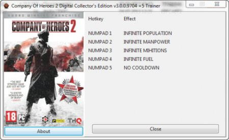 Company of Heroes 2 Digital Collector's Edition Trainer +5 v3.0.0.9704 {GRIZZLY}
