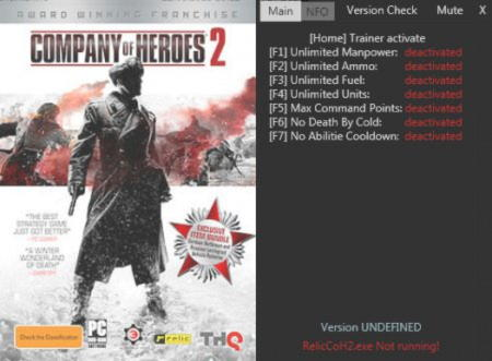 Company of Heroes 2 Trainer +6 v3.0.0.10242 {Matze500}