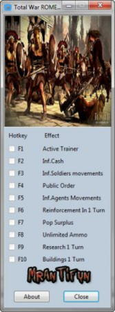 Total War: Rome 2 Trainer +9 v1.3 Up3 {MrAntiFun}