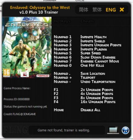 Enslaved: Odyssey to the West Trainer +10 v1.0 {FLiNG}