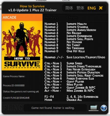 How to Survive Trainer +22 v1.0 Up1 {FLiNG}