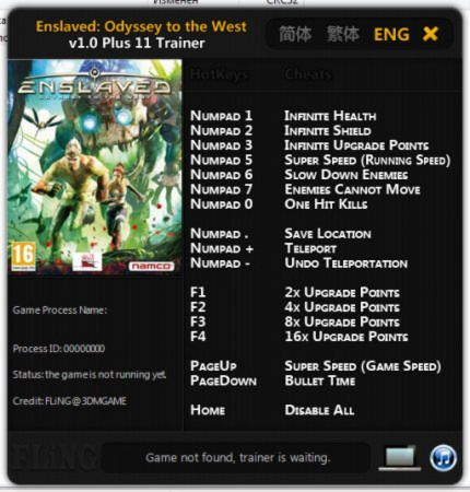 Enslaved: Odyssey to the West Trainer +11 v1.0 {FLiNG}