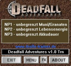 Deadfall Adventures Trainer +3 1.0 {dR.oLLe}