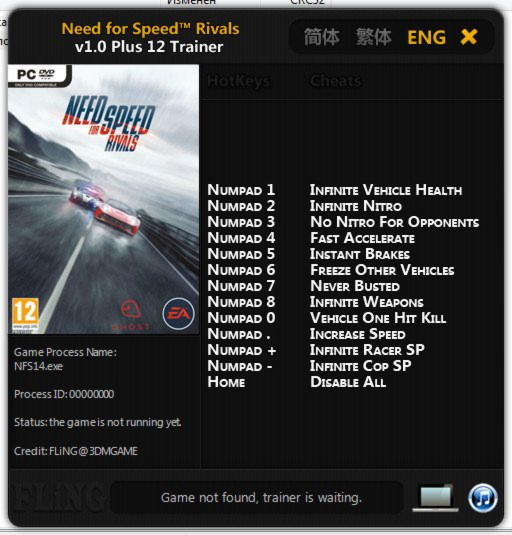 how to enter need for speed rivals cheats