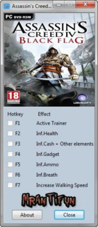 Assassin's Creed 4: Black Flag Trainer +6 v1.0 {MrAntiFun}