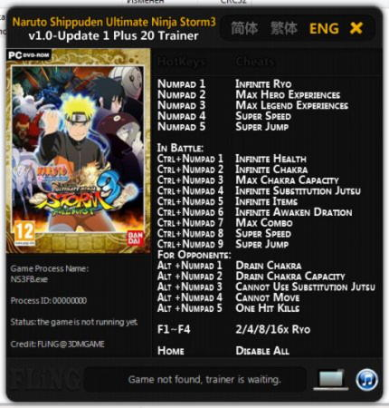 Hints and Tips for: Naruto Shippuden: Ultimate Ninja Storm Revolution. Have a saved game file from any of the previous Naruto Shippuden: Ultimate Ninja Storm series of games to keep Having Codes, cheat, hints, tips, trainer or tricks we dont have yet? Help out other players on the PC by...