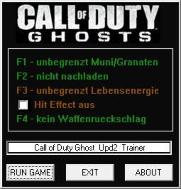 Call of Duty: Ghosts Trainer +4 v1.2 {dR.oLLe}