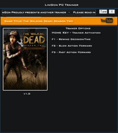 The Walking Dead: Season Two Trainer +3 v1.0 {LinGon}