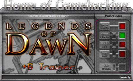 Legends of Dawn Trainer +6 v1.10 {HoG}