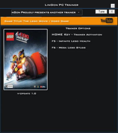 The LEGO Movie Videogame Trainer +2 v1.0 {LinGon}