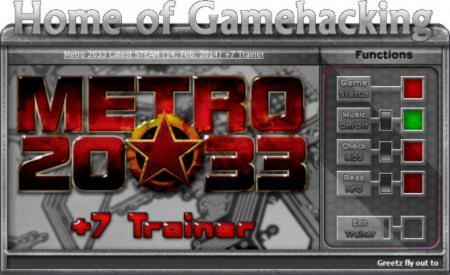 Metro 2033 Trainer +7 Update 17.02.2014 {HoG}