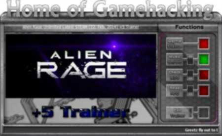 Alien Rage Trainer +5 Update 22.02.2014 {HoG}