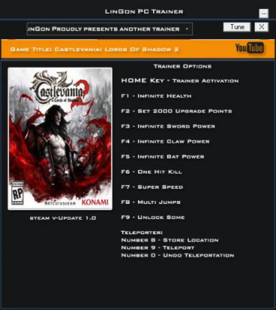 Castlevania: Lords of Shadow 2 Trainer +11 v1.0 {LinGon}