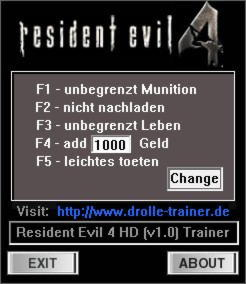 Resident Evil 4 Ultimate HD Trainer +5 v1.0 {dR.oLLe}