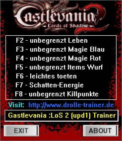 Castlevania: Lords of Shadow 2 Trainer +7 v1.1 {dR.oLLe}
