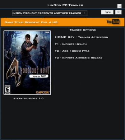 Resident Evil 4 Ultimate HD Trainer +3 v1.0 {LinGon}