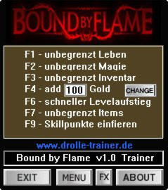 Bound by Flame Trainer +9 v1.0 {dR.oLLe}
