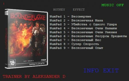 Bound by Flame Trainer +9 v1.0 {ALEKSANDER D}