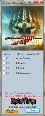 King Arthur 2: The Role Playing Wargame Trainer +3 Latest Steam 64 Bit {MrAntiFun}