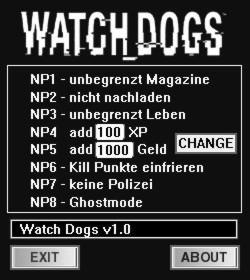 Watch Dogs Trainer +8 v1.03.471 {dR.oLLe}