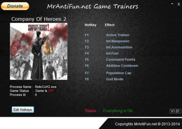 Company Of Heroes 2 Trainer 7 V3 0 0 14690 Mrantifun Download Cheats Codes Trainers