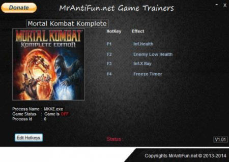 Mortal Kombat: Komplete Edition Trainer +4 Up 07.27.2014 {MrAntiFun}