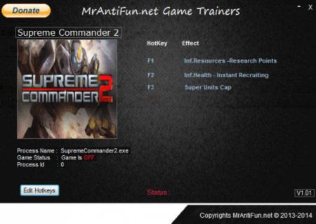 Supreme Commander 2 Trainer +5 v1.260 {MrAntiFun}