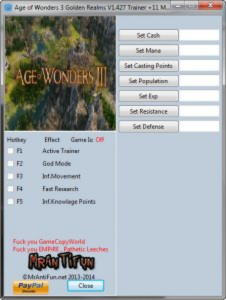 Age of Wonders 3 Golden Realms Trainer +11 v1.427 {MrAntiFun}