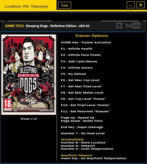Sleeping Dogs Definitive Edition Trainer