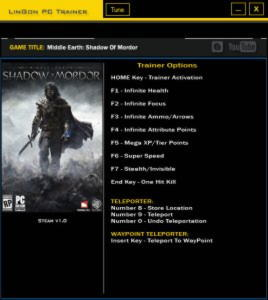 Middle-earth: Shadow of Mordor Trainer +11 v1.0 {LinGon}